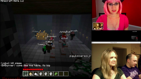 Cake party on Minecraft Show with Minecraft Chick